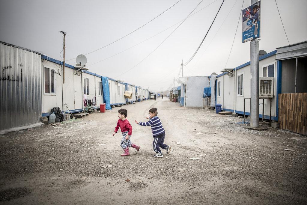 IRAK ERBIL CAMP DE DEPLACES CHRETIEN D'ASHATY