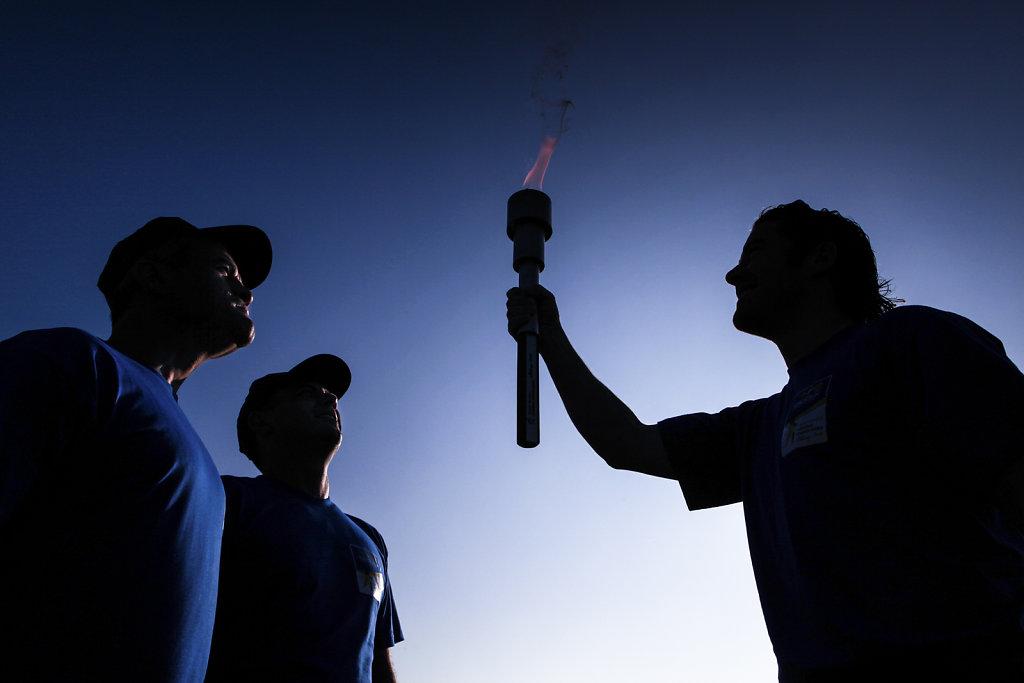 Torch run Special Olympics European Summer GAmes