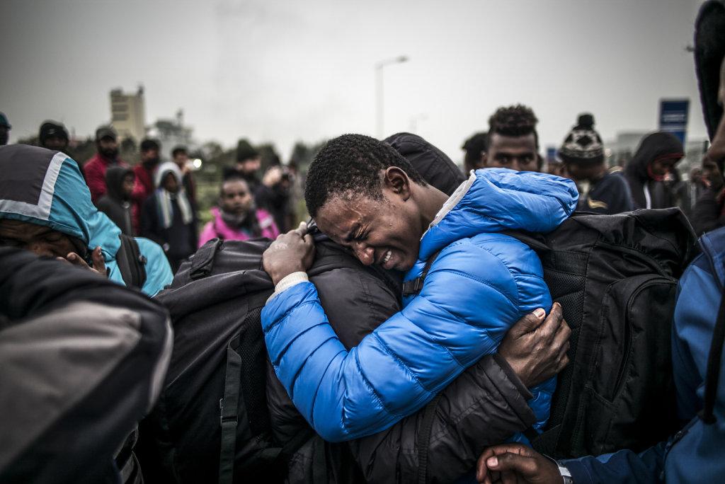 FRANCE CALAIS REFUGIES JUNGLE DEMANTELEMENT