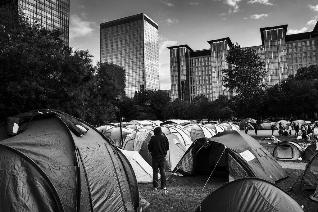 Réfugiés Parc Maximilien à Bruxelles